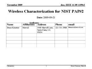 November 2009 doc IEEE 11 09 1199 r