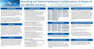 Describing and Optimizing Research Collaborations A Review of