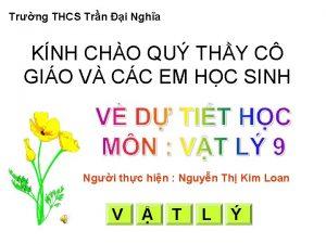 Trng THCS Trn i Ngha KNH CHO QU