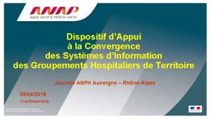Dispositif dAppui la Convergence des Systmes dInformation des