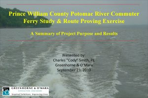 Prince William County Potomac River Commuter Ferry Study