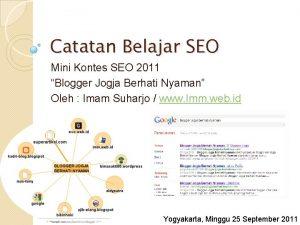 Catatan Belajar SEO Mini Kontes SEO 2011 Blogger