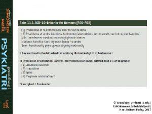 Grundbog i psykiatri 2 udg Erik Simonsen Bo