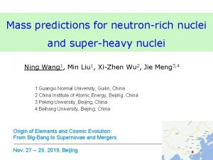 Mass predictions for neutronrich nuclei and superheavy nuclei
