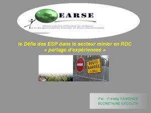 le Dfis des ESP dans le secteur minier