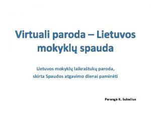 Virtuali paroda Lietuvos mokykl spauda Lietuvos mokykl laikratuk