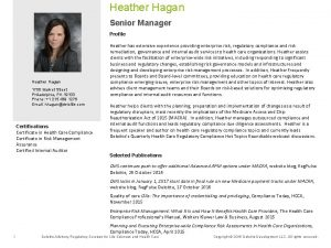 Heather Hagan Senior Manager Profile Heather Hagan 1700