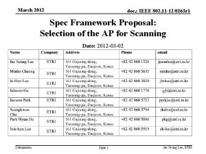 March 2012 doc IEEE 802 11 120263 r