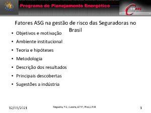 Fatores ASG na gesto de risco das Seguradoras