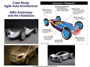 Case Study Agile Auto Architecture GMs Autonomy and
