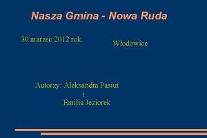 Nasza Gmina Nowa Ruda 30 marzec 2012 rok