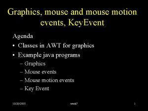 Graphics mouse and mouse motion events Key Event
