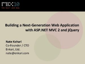 Building a NextGeneration Web Application with ASP NET