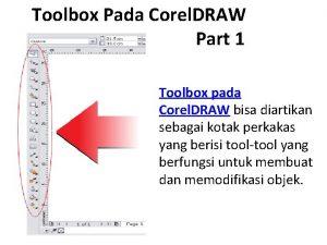 Toolbox Pada Corel DRAW Part 1 Toolbox pada