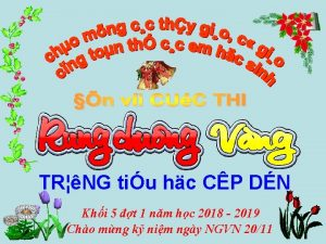 TRNG tiu hc CP DN Khi 5 t