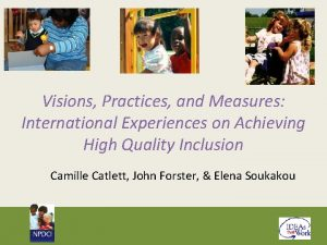 Visions Practices and Measures International Experiences on Achieving