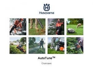 Auto Tune TM Chainsaws Auto Tune TM customer