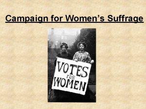 Campaign for Womens Suffrage Convicts and Lunatics 1908