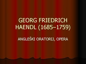 GEORG FRIEDRICH HAENDL 1685 1759 ANGLEKI ORATORIJ OPERA