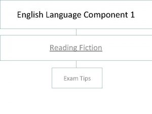 English Language Component 1 Reading Fiction Exam Tips
