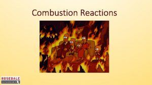 Combustion Reactions Combustion is a chemical reaction where
