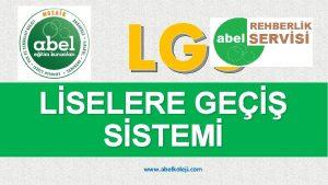 LGS LSELERE GE SSTEM www abelkoleji com LSELERE