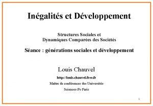 Ingalits et Dveloppement Structures Sociales et Dynamiques Compares