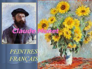 Claude Monet PEINTRES FRANAIS Bouquet de tournesols Impression