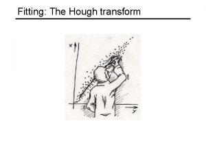 Fitting The Hough transform Review Corner and blob