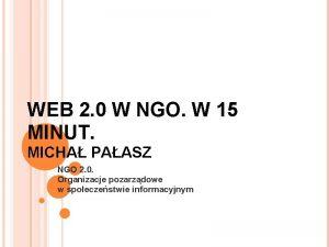 WEB 2 0 W NGO W 15 MINUT