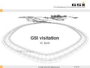 GSI Helmholtzzentrum fr Schwerionenforschung Gmb H GSI visitation