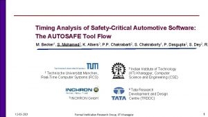 Timing Analysis of SafetyCritical Automotive Software The AUTOSAFE