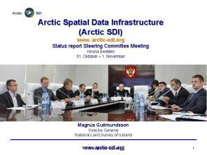 Arctic Spatial Data Infrastructure Arctic SDI www arcticsdi