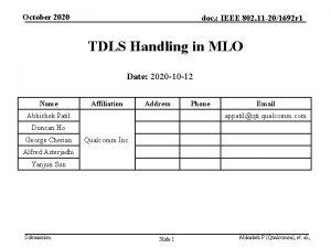 October 2020 doc IEEE 802 11 201692 r