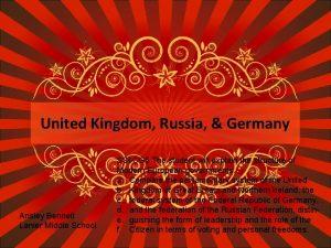 United Kingdom Russia Germany Ansley Bennett Lanier Middle