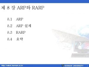 8 ARP RARP 8 1 ARP 8 2