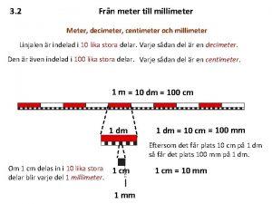 3 2 Frn meter till millimeter Meter decimeter
