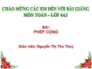 BI PHP CNG Gio vin Nguyn Th Thu