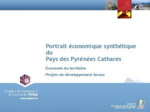 Portrait conomique synthtique du Pays des Pyrnes Cathares