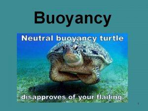 Buoyancy 1 What is buoyancy 2 When we