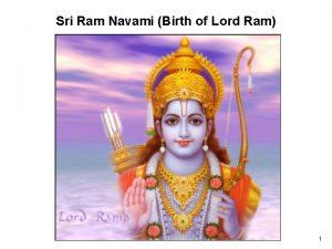 Sri Ram Navami Birth of Lord Ram 1