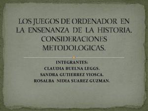 LOS JUEGOS DE ORDENADOR EN LA ENSENANZA DE