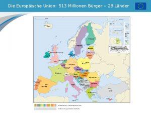 Die Europische Union 513 Millionen Brger 28 Lnder