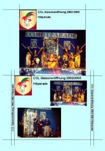 CCLSaisonerffnung 20022003 Hitparade CCLSaisonerffnung 20022003 CCLProgramm 2003 Lawena
