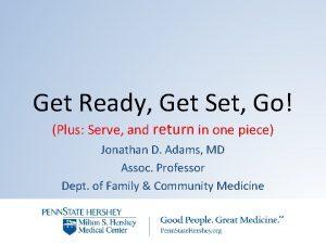 Get Ready Get Set Go Plus Serve and