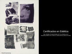 Certificados en Esttica Arte y Esttica OrientalEsttica del