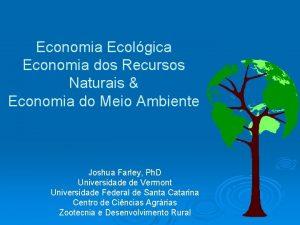 Economia Ecolgica Economia dos Recursos Naturais Economia do