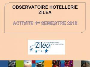OBSERVATOIRE HOTELLERIE ZILEA ACTIVITE 1 er SEMESTRE 2018