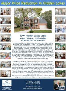 Major Price Reduction in Hidden Lakes 1397 Hidden