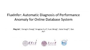 Flux Infer Automatic Diagnosis of Performance Anomaly for